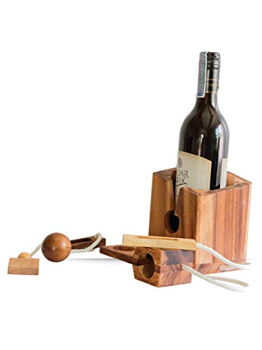 Fun Wine Gifts Game Bottle Puzzle for Wine Lovers Brain Teaser Adults fit with 750 ml - His Perfect Gifts