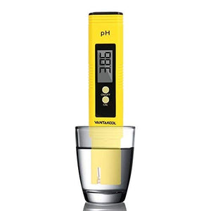 Cakie Digital Meter, 0.01 High Accuracy Quality 0-14 Measurement Range for Household Drinking, Pool and Aquarium Water PH Tester Design with ATC, Yellow - His Perfect Gifts