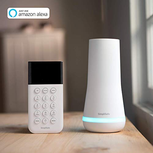 SimpliSafe Wireless Home Security System with Easy DIY Setup: Complete Home Protection w/ 24/7 Alarm Monitoring & No Contract (White, 8 Pieces) - His Perfect Gifts