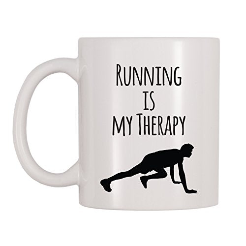 4 All Times Running Is My Therapy Mug (11 oz) - His Perfect Gifts