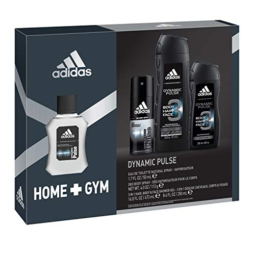 adidas Home & Gym Dynamic Pulse 4 Piece Gift Set - His Perfect Gifts
