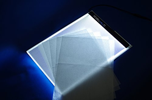 A4 Ultra-thin Portable LED Light Box tracer USB Power LED Artcraft Tracing Light Pad Light Box for Artists,Drawing, Sketching, Animation. - His Perfect Gifts