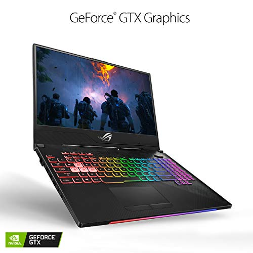 "ASUS ROG Strix SCAR II Slim Gaming Laptop GL504, 15.6"" 144Hz IPS Type, NVIDIA GeForce GTX 1070, Intel Core i7-8750H Processor, 16GB DDR4, 256GB PCIe SSD + 1TB SSHD, Windows 10 Home - GL504GS-DS74 - His Perfect Gifts"