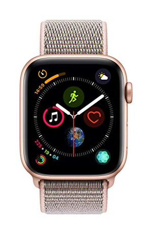 Apple Watch Series 4 (GPS + Cellular, 44mm) - Gold Aluminium Case with Pink Sand Sport Loop - His Perfect Gifts