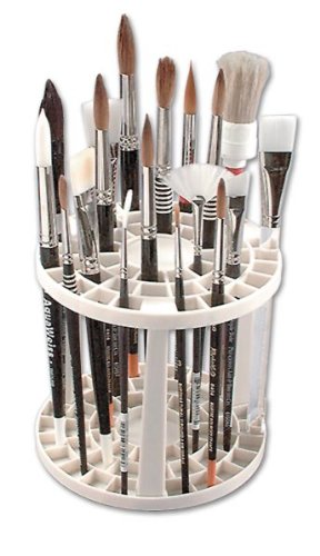The Brush Crate Multi Bin Paint Brush Organizer - Artist Paint & Makeup Brush Holder, Pens, Pencils, Small Tools Organizer- 49 Openings - His Perfect Gifts