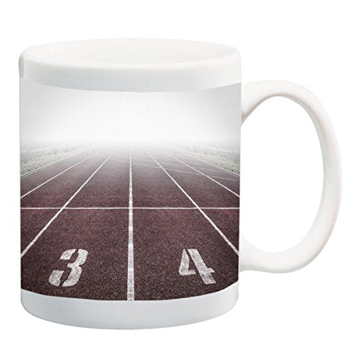 Track and Field Run Running Race 11 ounce Ceramic Coffee Mug Tea Cup by Moonlight Printing - His Perfect Gifts