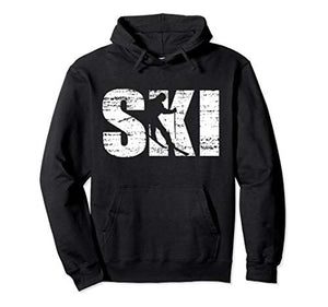 Cool Distressed Skiing hoodie for skiers - His Perfect Gifts