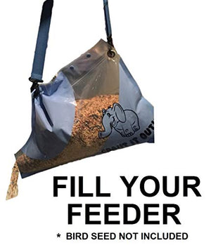 pourrific Easy-to-Pour Reusable & Portable Bag with Built-in Spout! Shoulder Strap Included! Accurately Dispense Bird Seed into Feeders! No Spilling! Resealable Bag, Easy-to-Refill, 10 LB Capacity. - His Perfect Gifts