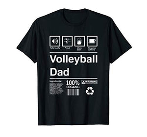 Mens Volleyball Dad T-Shirt Gift - His Perfect Gifts