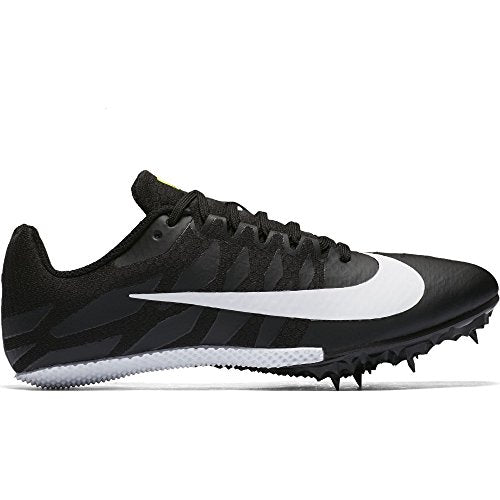 Nike Women's Zoom Rival S 9 Track Spike Black/White/Volt Size 8.5 M US - His Perfect Gifts