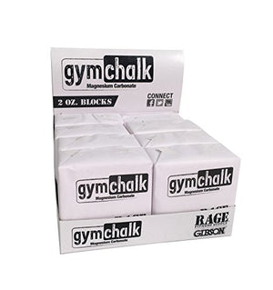 Gibson Athletic Premium Block Gym Chalk, 1Lb, Consists of (8) 2 oz Blocks, Magnesium Carbonate, Gymnastics, Weightlifting, Rock Climbing White - His Perfect Gifts