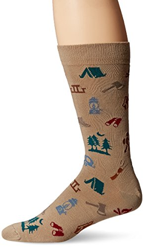 K. Bell Socks Men's Gear Crew, Camping, 10-13 - His Perfect Gifts
