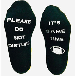 Savvy Gifts Please Do Not Disturb It's Game Time Funny Sports Socks for Football Fans - NFL, NCAA, FBS, FCS, Superbowl Gift - Unisex, One Size Fits All - His Perfect Gifts