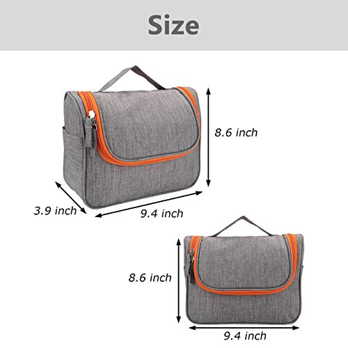 CozyCabin Hanging Toiletry Bag Travel Toiletry Kit for Men Toiletries Cosmetics Water Resistant with Mesh Pockets & Sturdy Nylon Hanging Hook Shower Bag, Organizer for Travel Accessories - His Perfect Gifts