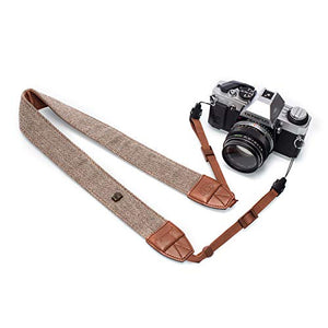 TARION Camera Shoulder Neck Strap Vintage Belt for All DSLR Camera Nikon Canon Sony Pentax Classic White and Brown Weave - His Perfect Gifts