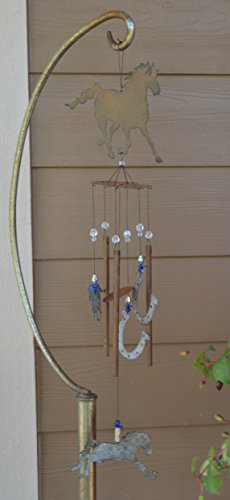 Sunset Vista Designs Horsing Around Horse Wind Chime, Medium - His Perfect Gifts