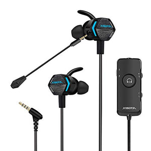 Stereo Bass Gaming Earbuds with Detachable Noise Cancelling Mic, 4D Vibration, 7.1 Surround Stereo Sound, Light Weight USB Headphones by Xiberia MG-2 Pro for Xbox One, PS4,PC,Laptop - His Perfect Gifts
