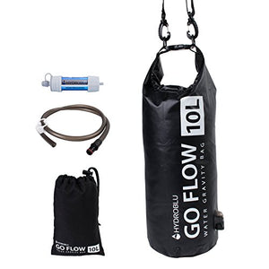 HydroBlu Go Flow Gravity Water Filter Bag with Versa Flow Water Filter Kit - His Perfect Gifts