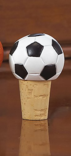 Wine Bottle Stopper - Sports Themed Cork, Wine Gifts for Men and Women - Soccer - His Perfect Gifts