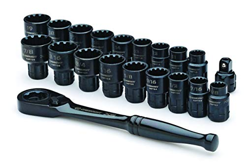 Crescent CX6PT20 X6 Pass-Through Ratchet and Sockets, 20-Piece - His Perfect Gifts