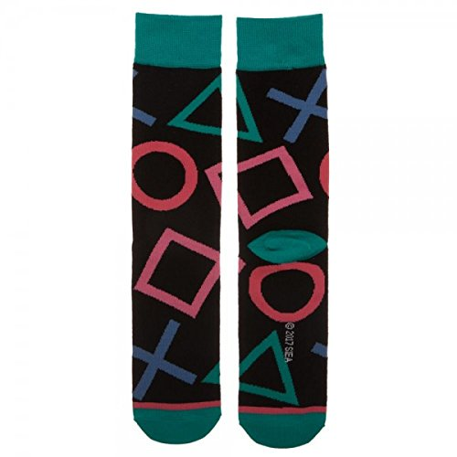 Sony Playstation Large All over Print Crew Socks - His Perfect Gifts