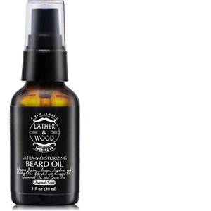 Ultra-Moisturizer Beard Oil For Men - Premium Blend - Spill-proof Pump - Original Scent is a Crisp Forest Ambience of Eucalyptus, Mint, and Lavender - Organic Hazelnut, Jojoba, Argan, Grapeseed Oils - His Perfect Gifts