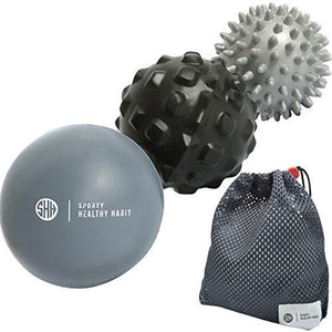 Massage Balls Deep Tissue: Lacrosse Ball Massage+ Spiky Ball+ Foam Ball Roller –Trigger Point Therapy, Myofascial Release, and Muscle Recovery. Foot Massager and Plantar Fasciitis. FREE eBook & Video: - His Perfect Gifts