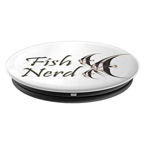 Angelfish Aquarium Nerds Funny Fish Memes - PopSockets Grip and Stand for Phones and Tablets - His Perfect Gifts
