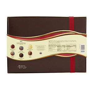 Lindt LINDOR Assorted Chocolate Gourmet Truffles, Gift Box, Kosher, 7.3 Ounce - His Perfect Gifts
