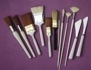 Bob Ross - Landscape Brush Set, Oil Based Painting Tools, 12 pieces - His Perfect Gifts