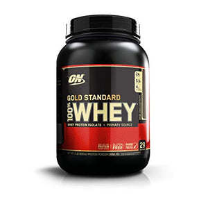 Optimum Nutrition Gold Standard 100% Whey Protein Powder, Double Rich Chocolate 2 Pound - His Perfect Gifts