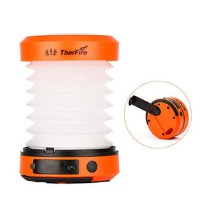 ThorFire LED Camping Lantern Lights Hand Crank USB Rechargeable Lanterns Collapsible Mini Flashlight Emergency Torch Night Light Tent Lamp for Camping Hiking Tent Garden Patio - CL01 - His Perfect Gifts