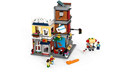 LEGO Creator 3 in 1 Townhouse Pet Shop & Café 31097 Toy Store Building Set with Bank, Town Playset with a Toy Tram, Animal Figures and Minifigures (969 Pieces) - His Perfect Gifts