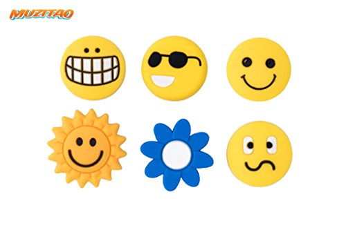 Tennis Vibration Dampeners Smileys (6 Pack) - His Perfect Gifts