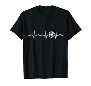 Heartbeat Soccer Lover Gift T-Shirt - His Perfect Gifts