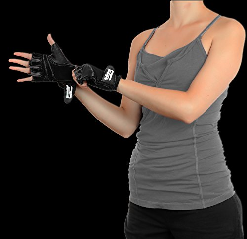 RIMSports Gym Gloves for Powerlifting, Weight Training, Biking, Cycling, Gym Equipment-Premium Quality Weights Lifting Gloves w/Washable Gloves for Callus and Blister Protection Gray M - His Perfect Gifts