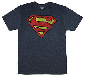 DC Comic Superman Shirt Shield Logo Symbol Men's Big and Tall Superhero Tee (Heather Grey, LT) - His Perfect Gifts
