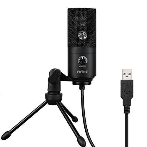 USB Microphone,Fifine Metal Condenser Recording Microphone For Laptop MAC Or Windows Cardioid Studio Recording Vocals, Voice Overs,Streaming Broadcast And YouTube Videos.(669B) - His Perfect Gifts