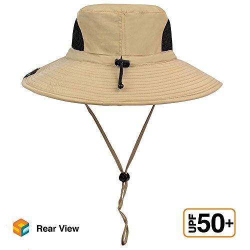 6c6272db1 SUN CUBE Premium Boonie Hat with Wide Brim, Adjustable Chin Strap | Outdoor  Hat for Fishing, Hiking, Safari, Travel | Summer Sun Protection, UPF 50+|  ...