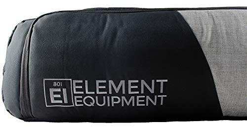 Element Equipment Tour Deluxe Padded Snowboard Bag - Premium High End Travel Bag 157 Heather Grey/Black - His Perfect Gifts