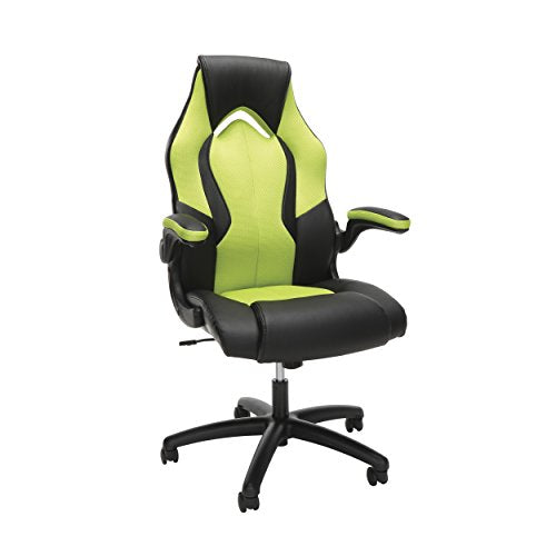 High-Back Racing Style Bonded Leather Gaming Chair Green - His Perfect Gifts