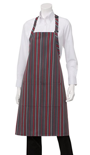 Chef Works Striped Bib Apron (A500) - His Perfect Gifts