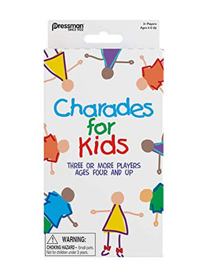 Pressman Charades for Kids Peggable  - No Reading Required Family Game - His Perfect Gifts