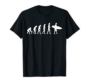 Surfing Evolution Shirt - Evolution of Surfing Surfer Gift - His Perfect Gifts