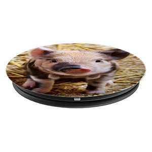 Pig Pop socket Farmer Gift For Christmas Cute Piggy Animal - PopSockets Grip and Stand for Phones and Tablets - His Perfect Gifts