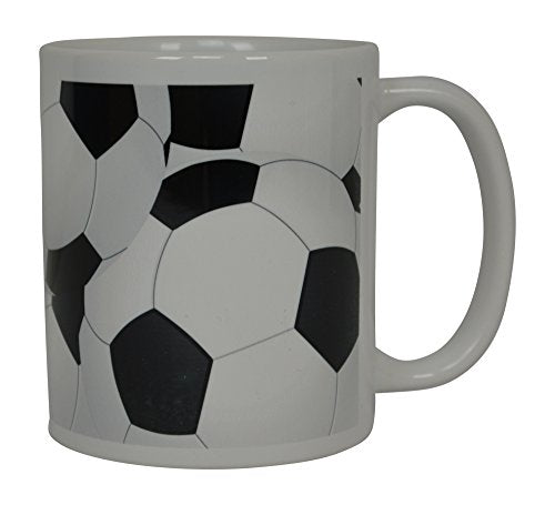 Soccer Ball Coffee Mug Novelty Cup Great Gift Idea For Men Women Soccer Players Lovers Fans - His Perfect Gifts