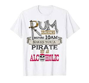 Rum Drinking Pirate T-Shirt, Gasparilla Alcohol Drinker Gift - His Perfect Gifts