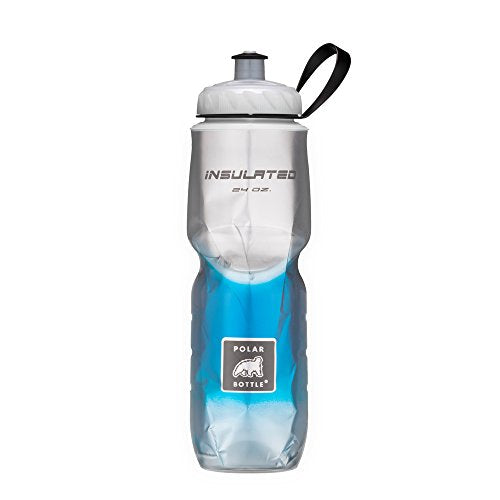 Polar Bottle Insulated Water Bottle (Blue Fade) (24 oz) - 100% BPA-Free Water Bottle - Perfect Cycling or Sports Water Bottle - Dishwasher & Freezer Safe - His Perfect Gifts