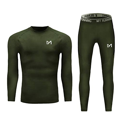 Men's Thermal Underwear Set, Sport Long Johns Base Layer for Male, Winter Gear Compression Suits for Skiing Running - His Perfect Gifts