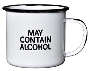 "MAY CONTAIN ALCOHOL | Enamel ""Coffee"" Mug 